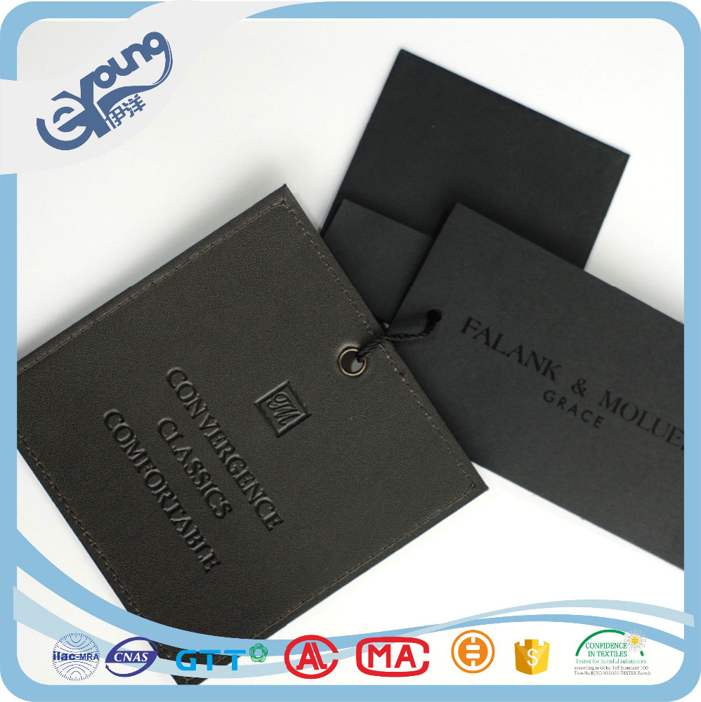 Swing Tag Garment leather Hangtag, Garment Price Tag