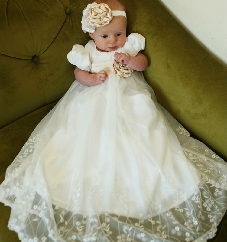8dfa6d79c New Christening Gown Baby Girl Baptism Dresses For Baby Girl Per Set ...