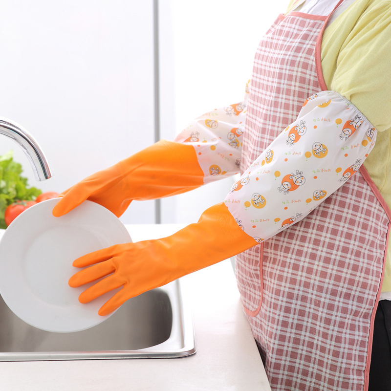 High Quality Colorful dish washing gloves extra long latex gloves wholesale