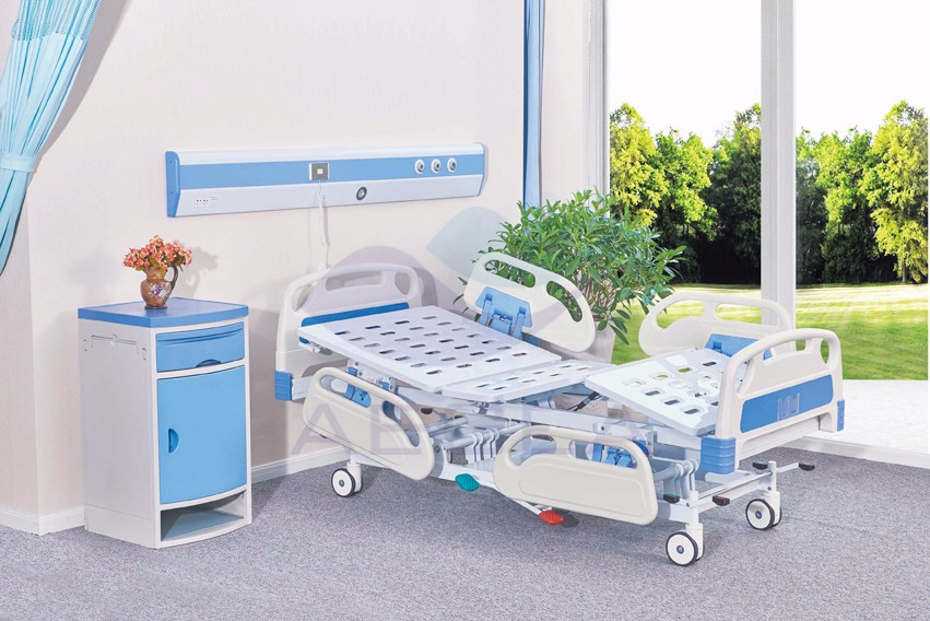 AG-BMY002 physical therapy mechanical control manual hydraulic hospital bed manufacturers