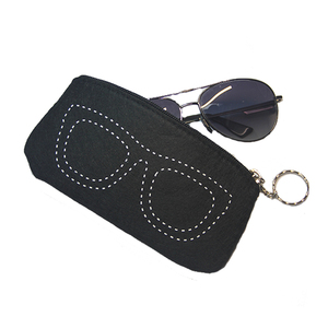 Custom logo black soft microfiber sunglasses pouch double drawstring sun glasses pouch