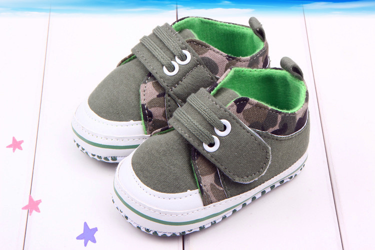 2015 Army Green Anti-skid Soft Sole Baby Boys Shoes Cotton Prewalker For New Born Infant Baby Boys Walking Shoes Brand New