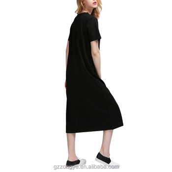 t shirt dress with slits