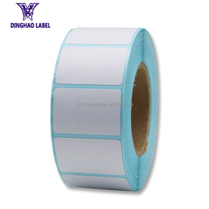 OEM adhesive printed 40*20mm direct thermal sticker label