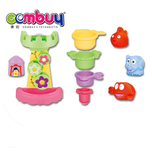Wholesale lovely baby indoor bathroom play games set tub town bath toy