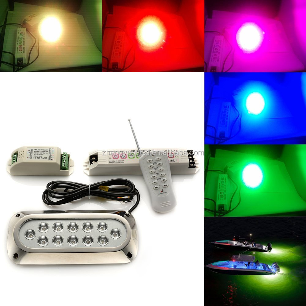 2016 Top sale!! Marine part 18W LED Underwater Lights for boat/marine/yatch
