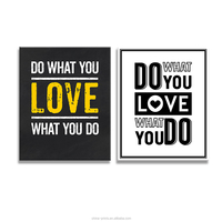 Do What You Want to Do What You Love to Do Black And White English Quote Saying Photo Prints Home Wall Decoration