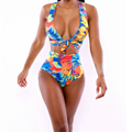 Charming Sexy European and American Big Yards Beach Bathing Suit Digital Printing Triangle Bikini Sexy Two
