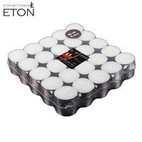 Paraffin wax 50g white household decoration tealight candle with aluminum holder