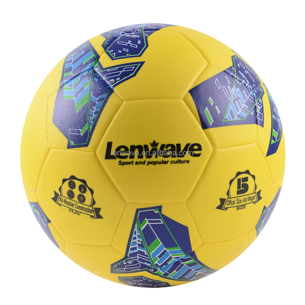 Lenwave branded soccer balls deflated packing thermal bonded custom soccer ball