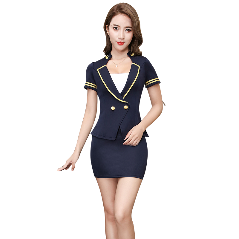Mode elegant sim fit hotel uniform hotel receptie uniform kantoor uniform
