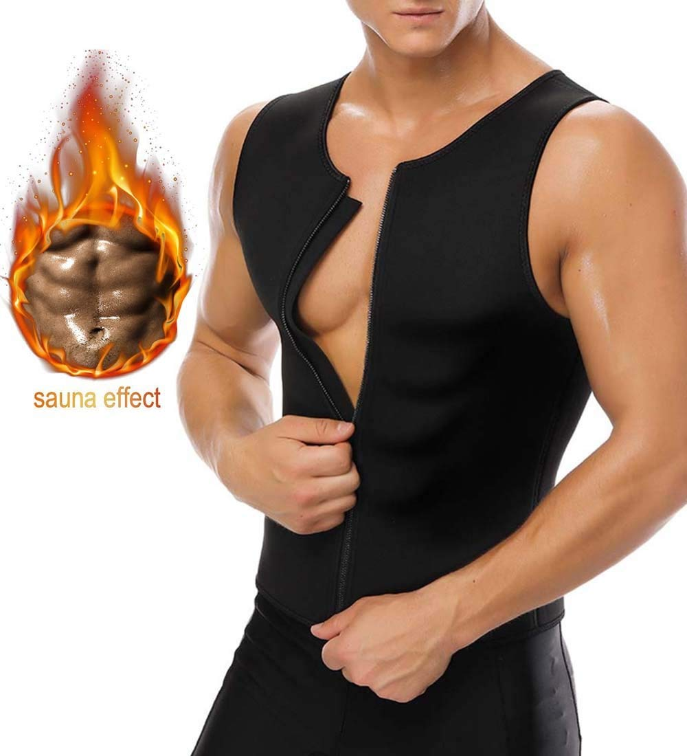 18f2c5478e Get Quotations · Bujui Men Waist Trainer Vest for Weight Loss Hot Sauna  Sweat Suit Neoprene Corset Body Shaper