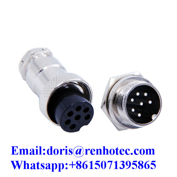 DIN 16mm 2pin 3pin 4Pin 5pin 6pin 7pin 8pin 9pin 10pin GX16 Aviation Connector Plug Socket Sensor Connector Cable