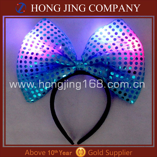 led minnie mouse bow party headband