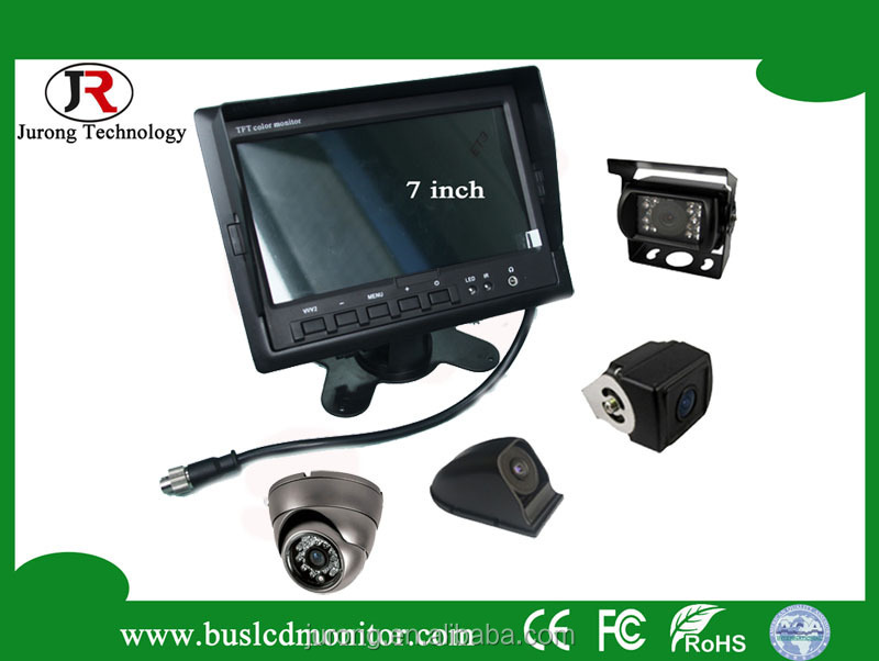 HD Display VGA AV Input 7 Inch TFT LCD Color Monitor