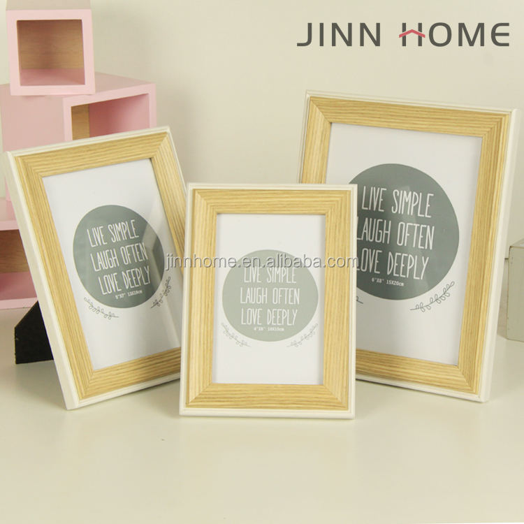 Jinnhome eco-friendly cheap fashionable art minds wood picture frame for young