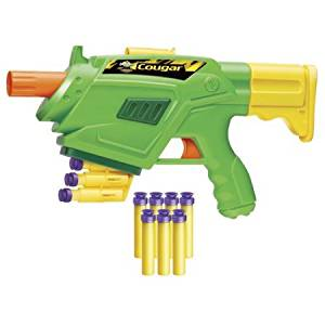 Air Warriors Automatic Indexing, Fun, Colorful, Great Christmas Gift Idea, Pretend Play Cougar Dart Blaster