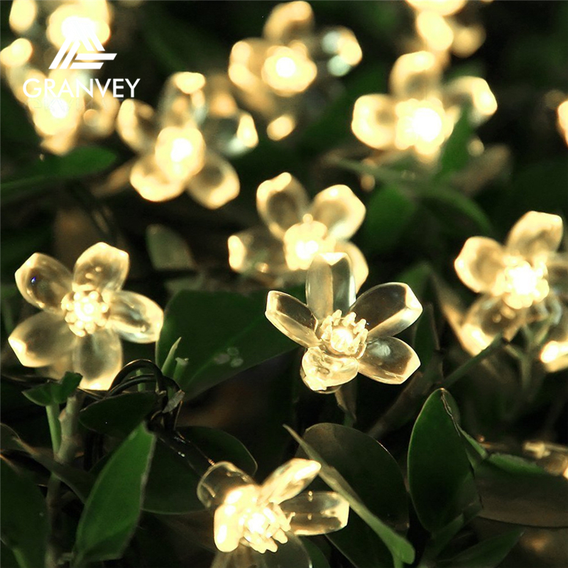 2017 Custom Led Christmas Holiday Decorative Peach Blossom String Lights wholesale for Christmas Tree Decorations