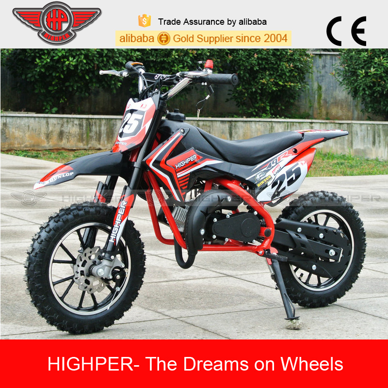 2017 gas powered 49cc 2 stroke motorcycle dirt bike (DB709)