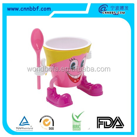 Wholesale Cartoon plastic Ice cream cup for kids