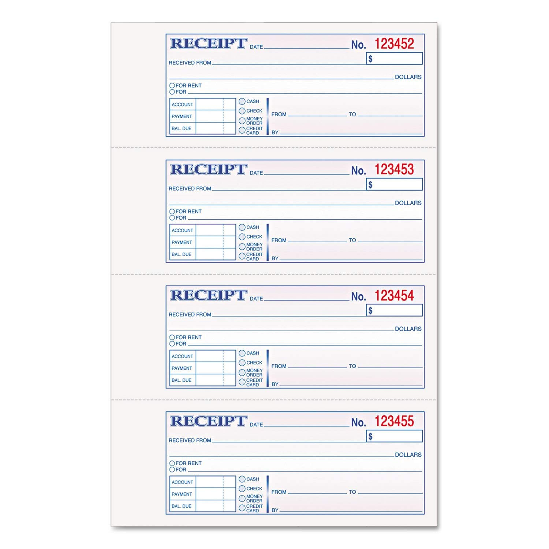 "TOPS 46806 Receipt Book,Carbonless,2-Part,2-3/4""x7-1/4"",200/BK,WE/CA"