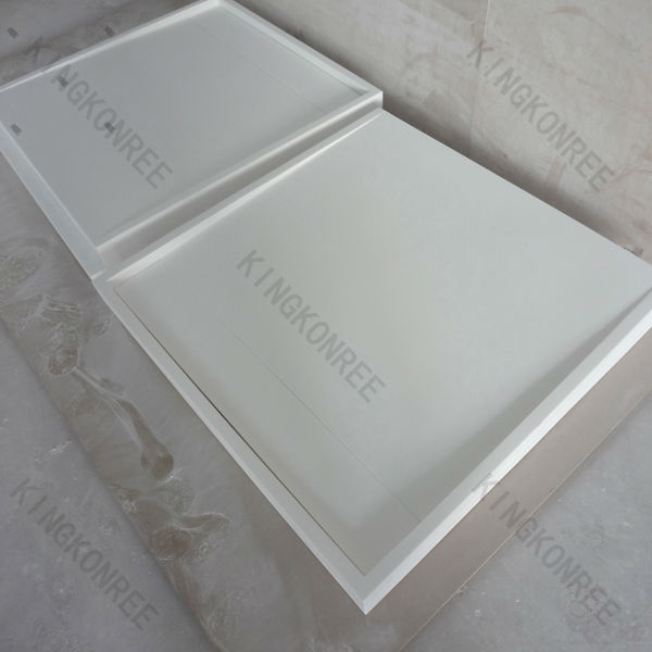 CE Approved Rectangle Acrylic solid surface Shower Tray Plate for EU Market