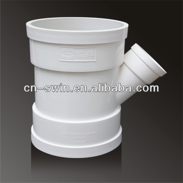 ISO certificated popular pvc reducing wye for drainage pipe