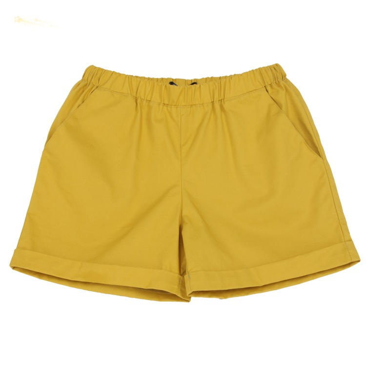 New Arrival 2015 Women Shorts Summer Casual Fashion Korean Style Candy Color Solid Elastic Waist shorts Female