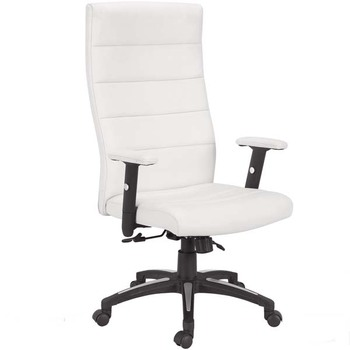 Stupendous Mc Ribbed Sewing Pu Leather Tilting Premium Office Chair White With Adjustable Armrest Buy Premium Office Chair Office Chiar White Ribbed Sewing Theyellowbook Wood Chair Design Ideas Theyellowbookinfo