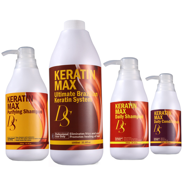 DS Keratin <strong>MAX</strong> Hydrolyzed Global Gloden Brazilian Keratin Collagen Hair Treatment Set For Wholesale