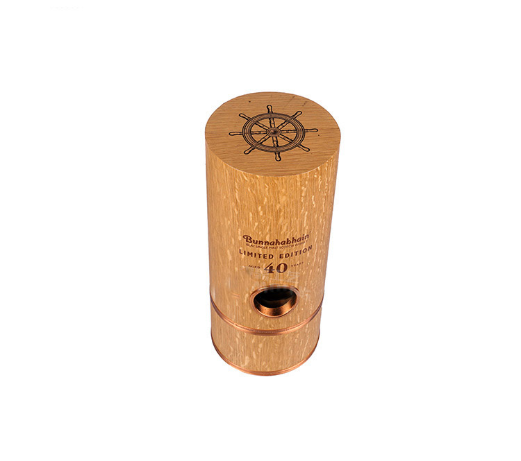 wooden round tube wine gift box