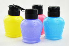 350ml Crown Style Wash Remover Cleanser Bottle Pump Dispenser Nail Art Polish Remover Cleaner Acetone Bottle