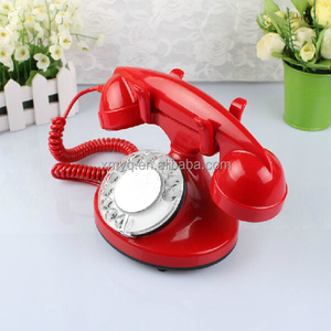 Old Style Phone Novelty Cute Corded Telephone For Real Use