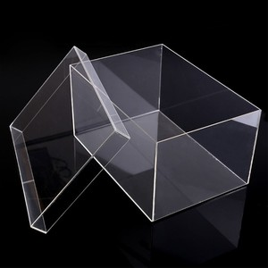 Clear Acrylic shoe flower jewelry display storage box with lid