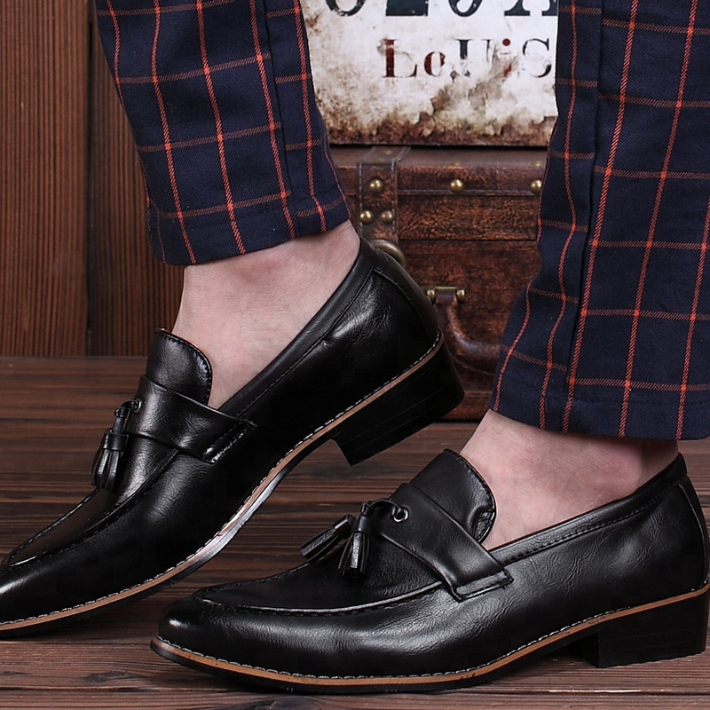 SS0010 British style classic man leather shoe casual loafers dress shoes for men 2019