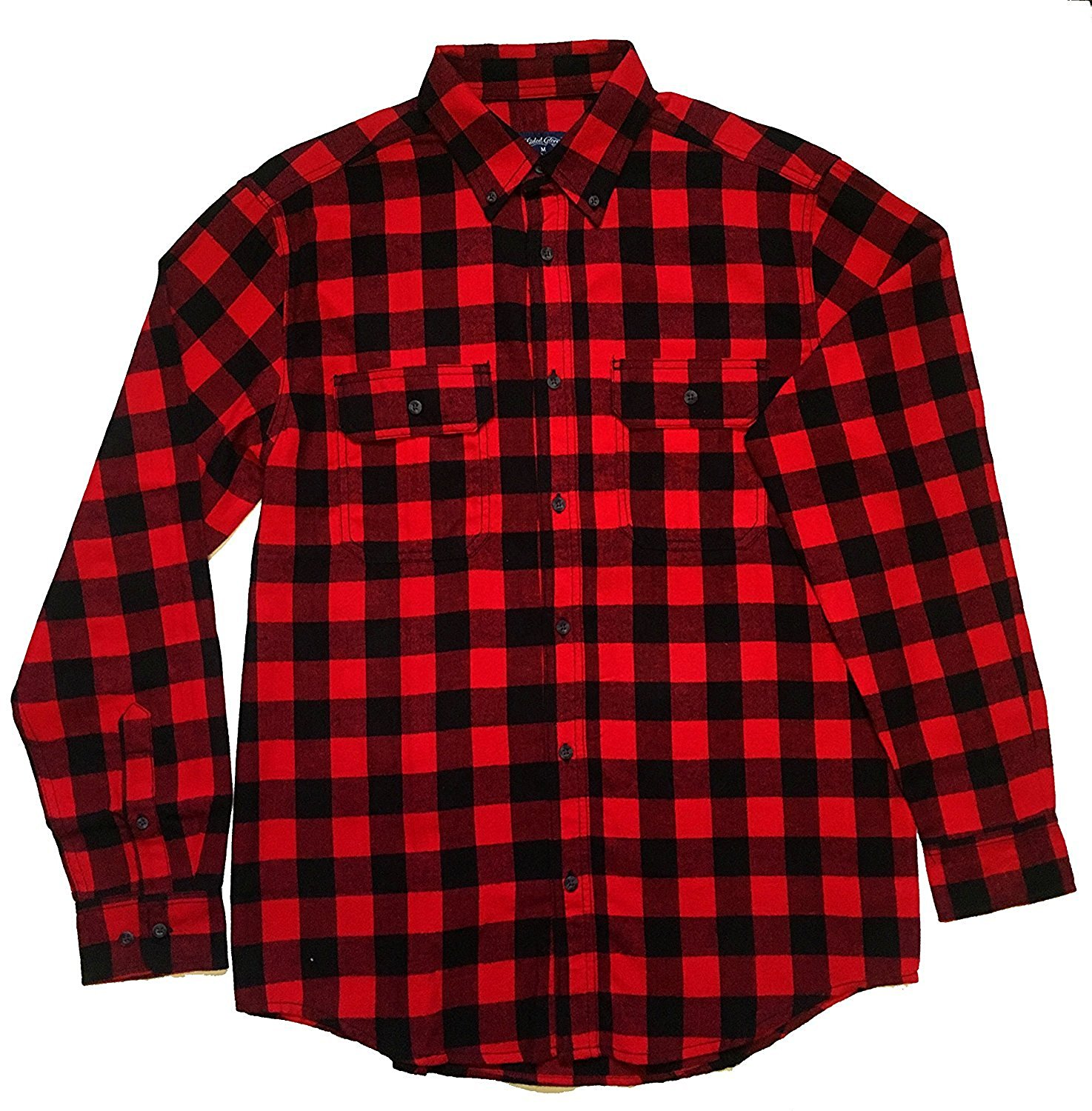ddcd9d1c5a969 Get Quotations · Faded Glory Classic Yarn Dyed Plaid Men s Cotton Flannel  Shirt