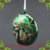 Hand blown artificial peacocks glass Christmas ball for sale