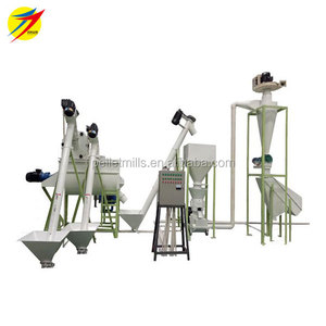 500kg animal feed pellet production line/complete animal feed pellet line made in China