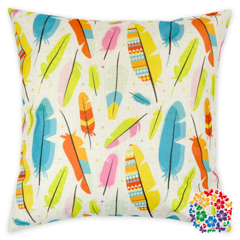 Hot Sale Feathers Printed Plain Square Pillow Covers Boutique Home