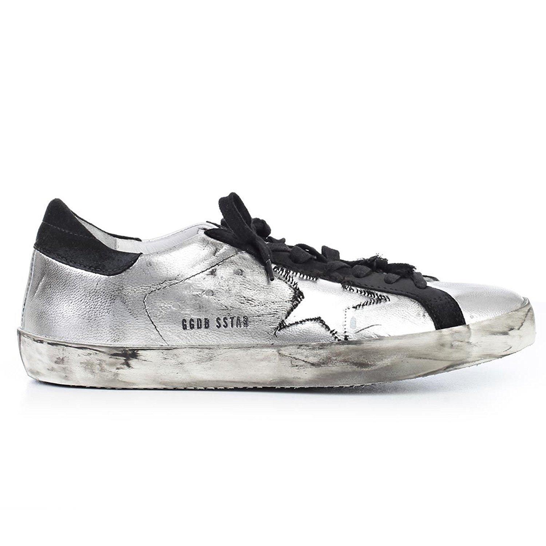 57048f1855c67 Get Quotations · The Golden Goose Golden Goose Men s Sneaker Superstar  Silver G30MS590.