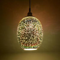 3D Frosted glass oil lamp shade and glass chimney