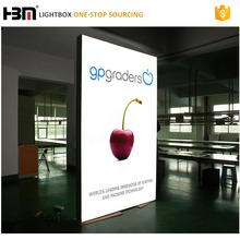 Double side hanging display a led light box, free standing dipinto immagine grafico mostra fiera scatole