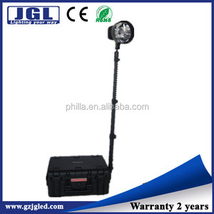 remote area lighting hid battery operated job site lighting