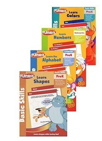 Pre K Workbooks Set of 4 Activity Books, Learn; Letters, Colors, Shapes, Numbers, Counting, Reading and the Alphabet. Playskool Pre-k and Kindergarten Books, Teach Young Kids, Math, Language, and Basic Skills. Toddlers Can Begin to Learn, Letters & Sounds, Pre-reading Skills, Lowercase & Uppercase