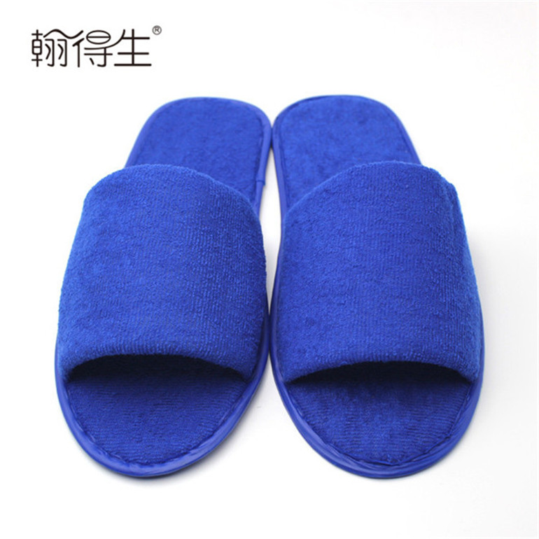 Super soft and comfortable open toe indoor slippers for hotel