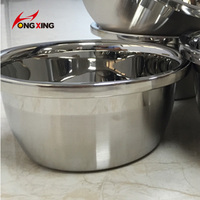 201 Different capacity stainless steel kitchen food basin for 18/20/22/24/26/28cm