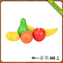 Easy Eco-Friendly Fruit Cutting Toy Wooden Food Toy
