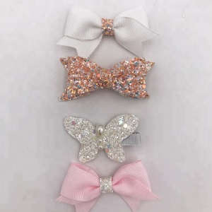 2018 New Design Best Selling Glitter African Butterfly Hair Clip