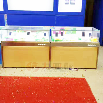 Genial OEM Hot Sale OPPO Mobile Phone Glass Display Cabinet Showcase Wood Led  Display Furniture