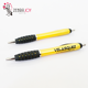 Logo printed yellow manufacturer plastic ball pen promotion in china